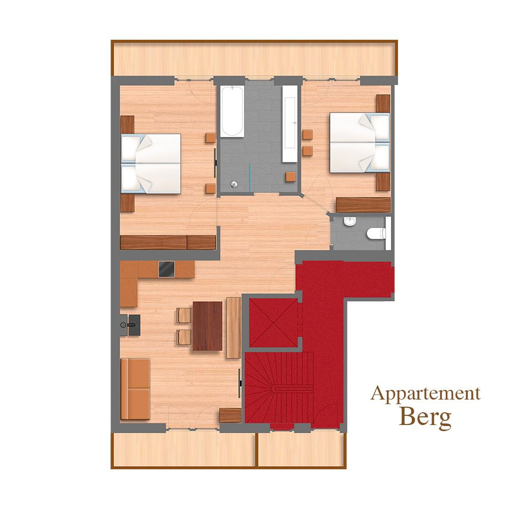 Appartement Berg